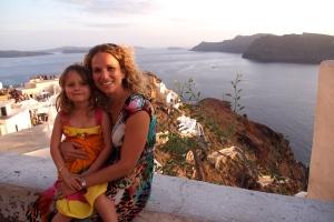Grabbing a sunset at Santorini
