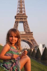 Lily loved anything to do with the Eiffel Tower.