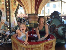 Carousel ride in St Remy de Provence. We took a ride every day.