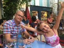 Waiting for our dinner at Bistrot de Marie in St Remy De Provence, for my birthday.